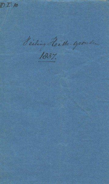 Veiling heidegronden in 1837 te Hilversum