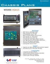W5000-XGA15 Datasheet - Chassis Plans