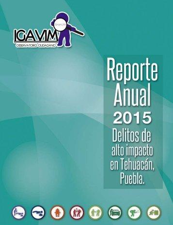 REPORTE ANUAL SOBRE DELITOS DE ALTO IMPACTO 2015