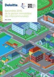 Baromètre 2016 de la gestion immobilière des intercommunalités