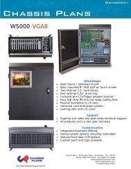 W5000-VGA8 Datasheet - Chassis Plans
