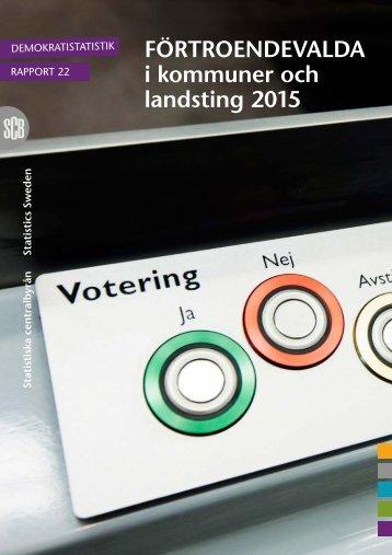 FÖRTROENDEVALDA i kommuner och landsting 2015