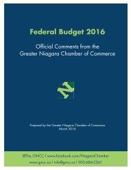 Federal Budget 2016