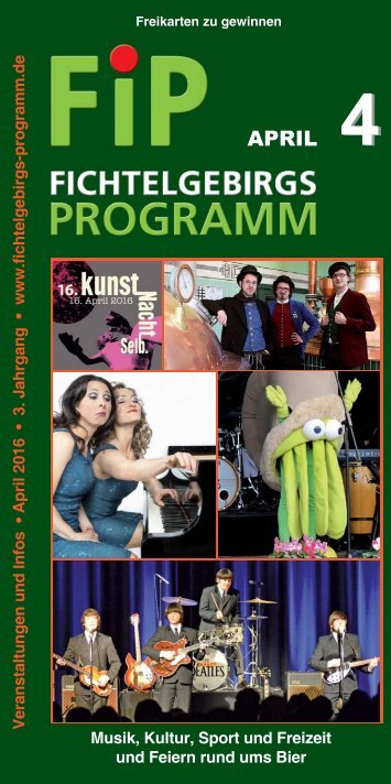 Fichtelgebirgs-Programm - April 2016