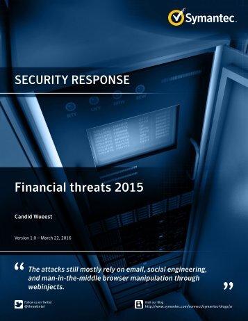 Financial threats 2015