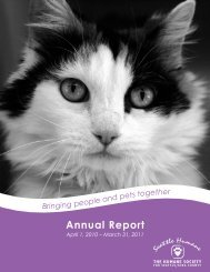 Annual Report - Seattle Humane Society