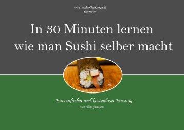 6.3 Die Maki Rolle - Sushi selber machen