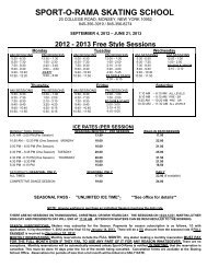 2013 Free Style Sessions - Sport-O-Rama Ice Rinks