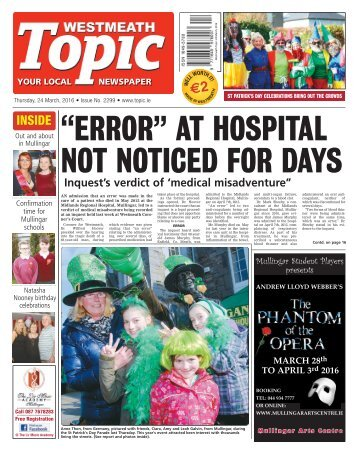 Westmeath Topic - 24 March 2016