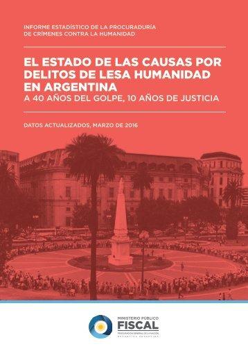 EL ESTADO DE LAS CAUSAS POR DELITOS DE LESA HUMANIDAD EN ARGENTINA
