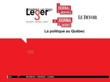 Insérez un logo La politique au Québec