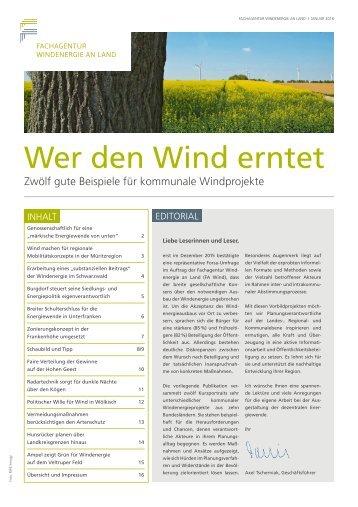 Wer den Wind erntet - Zwölf gute Beispiele für kommunale Windprojekte