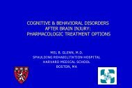 AFTER BRAIN INJURY PHARMACOLOGIC TREATMENT OPTIONS