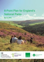 8-Point Plan for England's National Parks