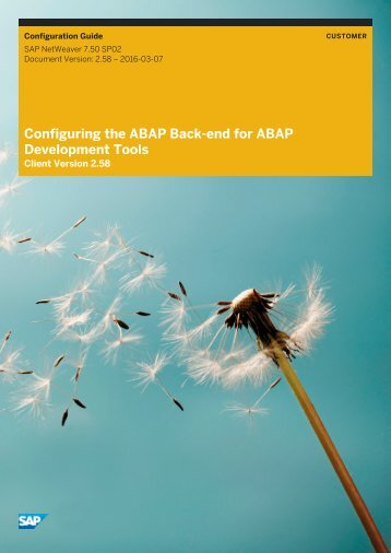 Configuring the ABAP Back-end for ABAP Development Tools
