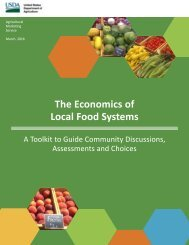 The Economics of Local Food Systems