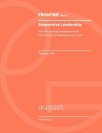 FRONTIER Responsive Leadership
