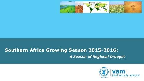 Southern Africa Growing Season 2015-2016