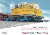 SCHEUERLE SPMT Broschüre  - Selbstangetriebene modulare Transporter