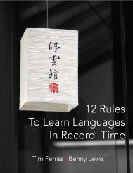 12 Rules To Learn Languages In Record Time