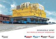 SCHEUERLE SPMT brochure - Self-propelled modular transporters