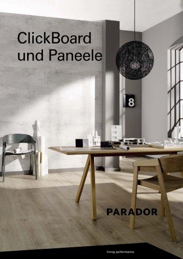 Parador ClickBoard und Paneele 2016