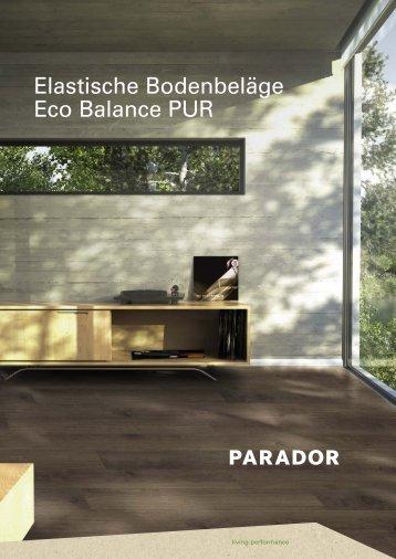 Parador Eco Balance PUR 2016