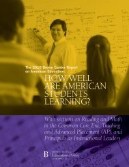 HOW WELL ARE AMERICAN STUDENTS LEARNING?