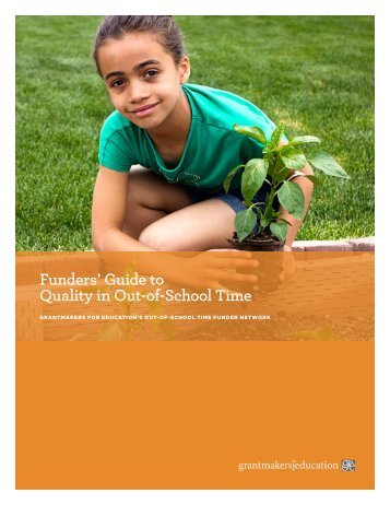 Funders' Guide to Quality in Out-of-School Time