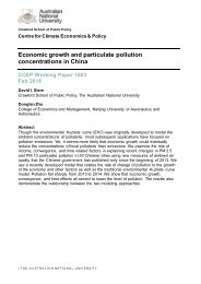 Economic growth and particulate pollution concentrations in China