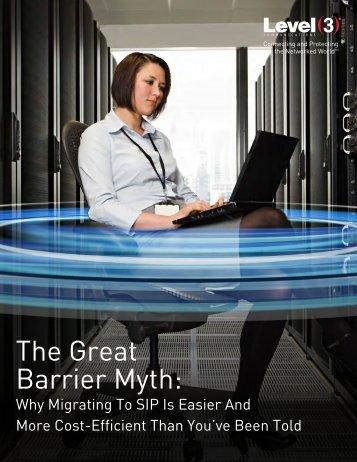 Barrier Myth