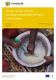 Climate Shocks Weather and Maize Intensification Decisions in Rural Kenya