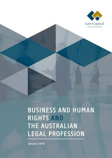 BUSINESS AND HUMAN RIGHTS AND THE AUSTRALIAN LEGAL PROFESSION
