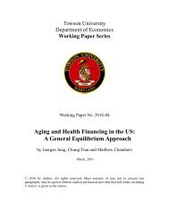 Aging and Health Financing in the US A General Equilibrium Approach