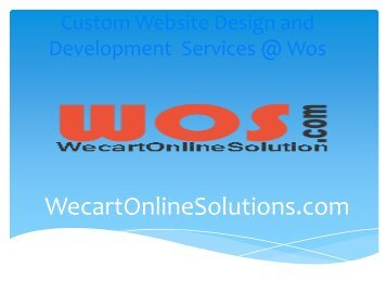 E-Commerce Portal Development India & Website Design and Development Company @ Wecartonlinesolutions.com Wos