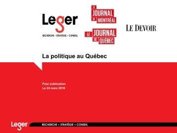 La politique au Québec