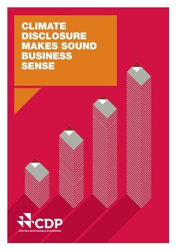 DISCLOSURE MAKES SOUND BUSINESS SENSE