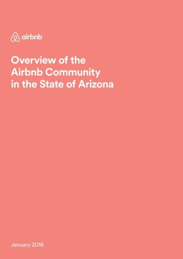 Overview of the Airbnb Community in the State of Arizona