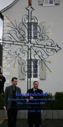 Gemeindebrief - EKS Evangelische Kirche Saar
