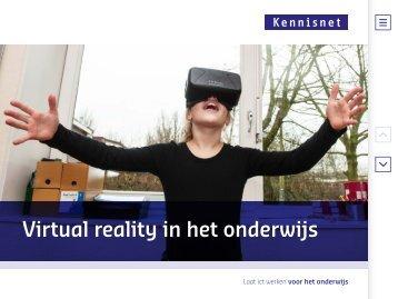Virtual reality in het onderwijs