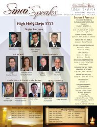 High Holy Days 5773 - Sinai Temple