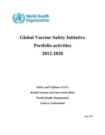 Portfolio activities 2012-2020