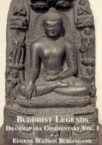 Buddhist Legends Vol. I
