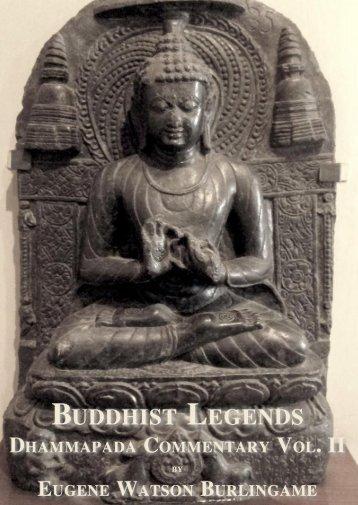 Buddhist Legends Vol. II