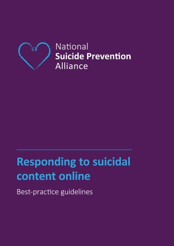 Responding to suicidal content online