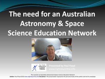 The need for an Australian Astronomy & Space Science Education Network