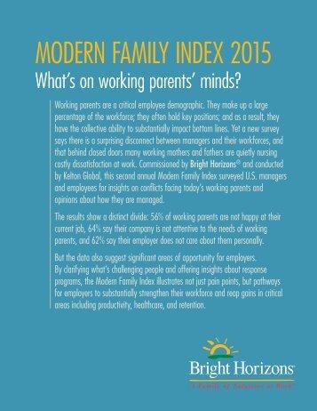MODERN FAMILY INDEX 2015