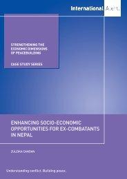 strengthening the economic dimensions of ... - International Alert