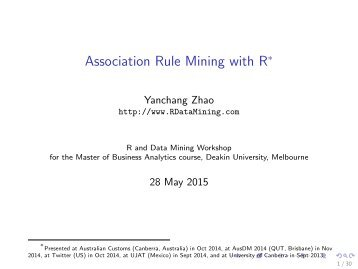 Association Rule Mining with R