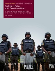 The Role of Police in UN Peace Operations
